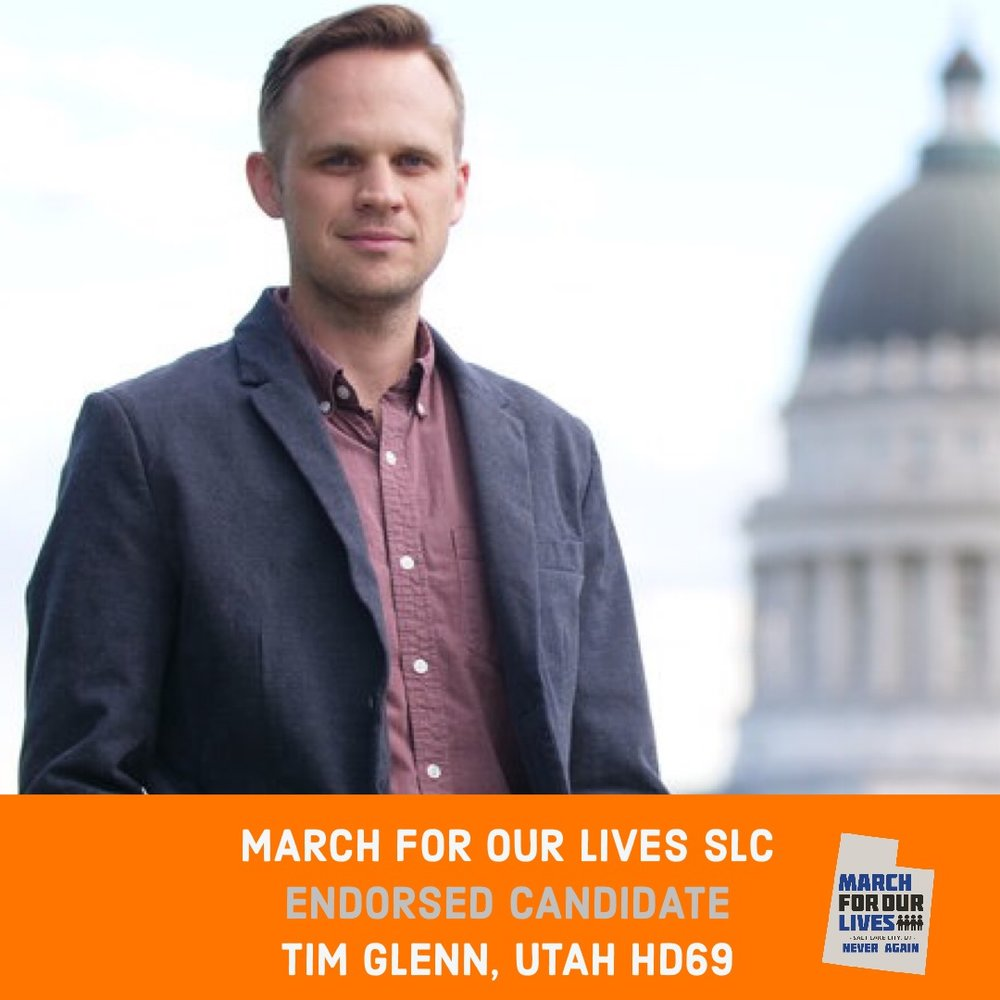 TIM GLENN (D)    GRADE: A   Utah House District 69  www.votetimglenn.com