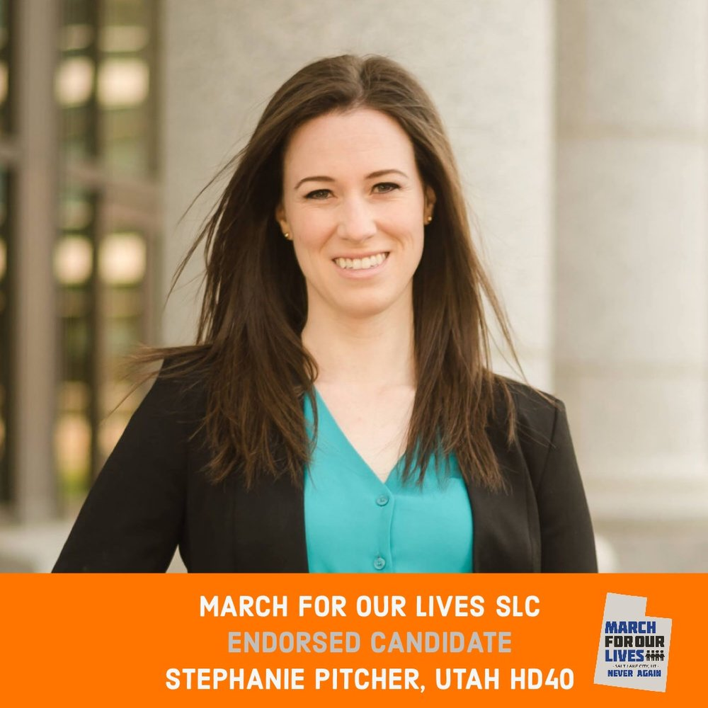 STEPHANIE PITCHER (D)    GRADE: A+   Utah House District 40  www.electstephanie.com