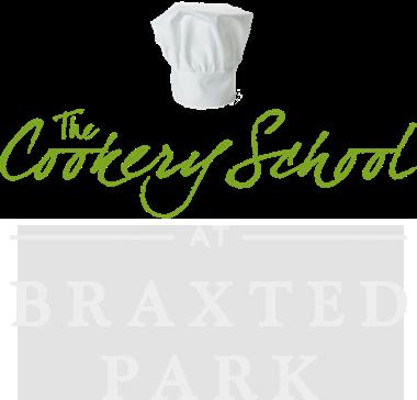 Cookery School Logo - White