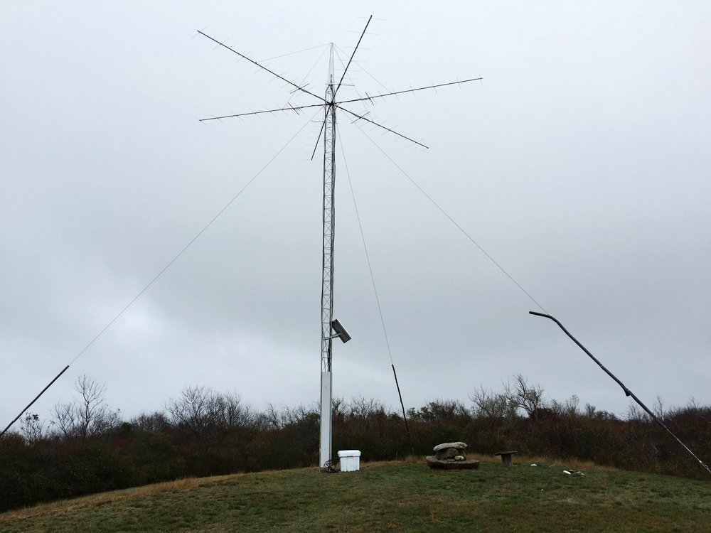 Automatic ReceivingStation on Block Island - This 40ft tower is a part of the MOTUS network and will passively pick up the signals from any Nanotag within it's range