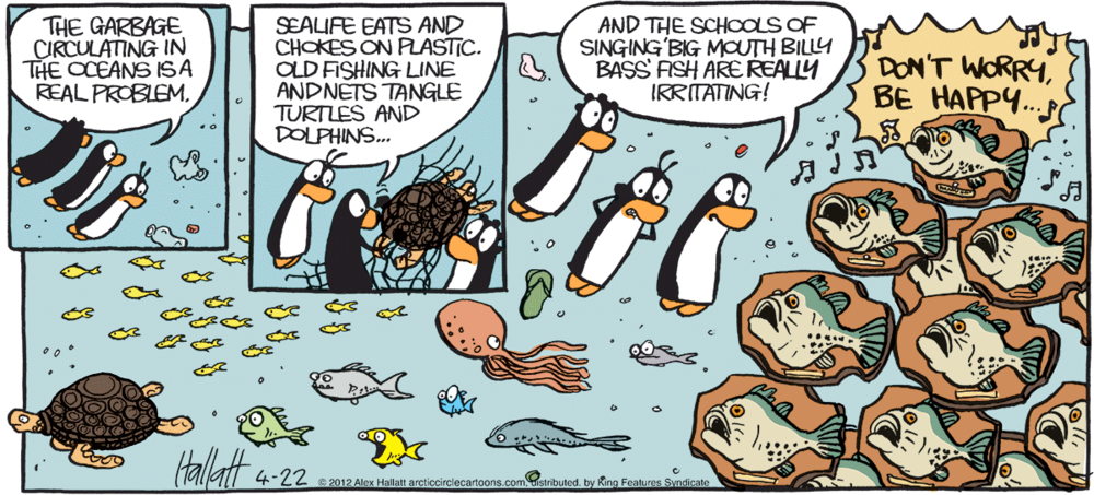 I wonder what percentage of Big Mouth Billy Bass fish ended up in landfill. A horrifying number, I imagine.