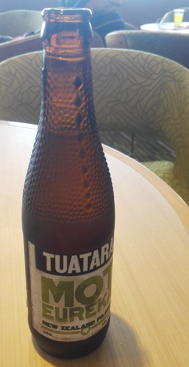 I love the design of the glass bottle that tuatara beer is in.