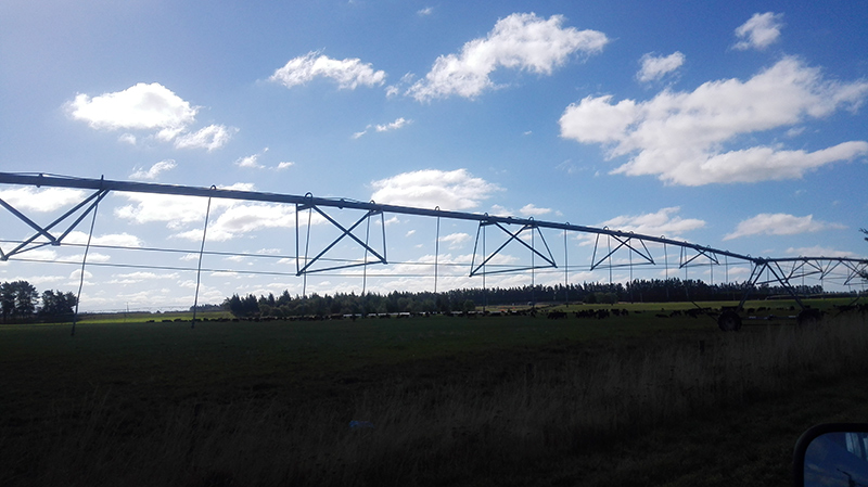 We saw these irrigators everywhere driving through the Canterbury plains and the Mackenzie Country. Some of them are a kilometre long or more.