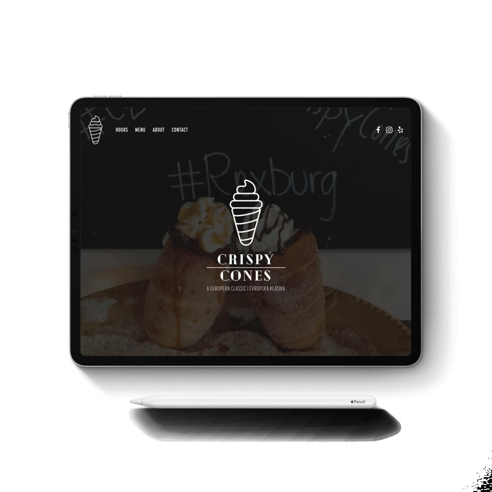 Crispý Cones - Branding, Graphic & Website Design, Online Marketing, Photography