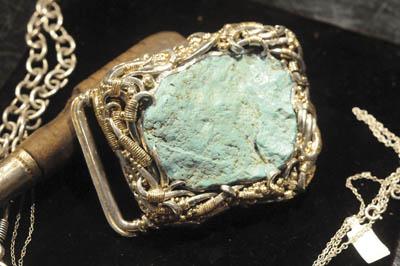 Turquoise belt buckle by Allan Stuck