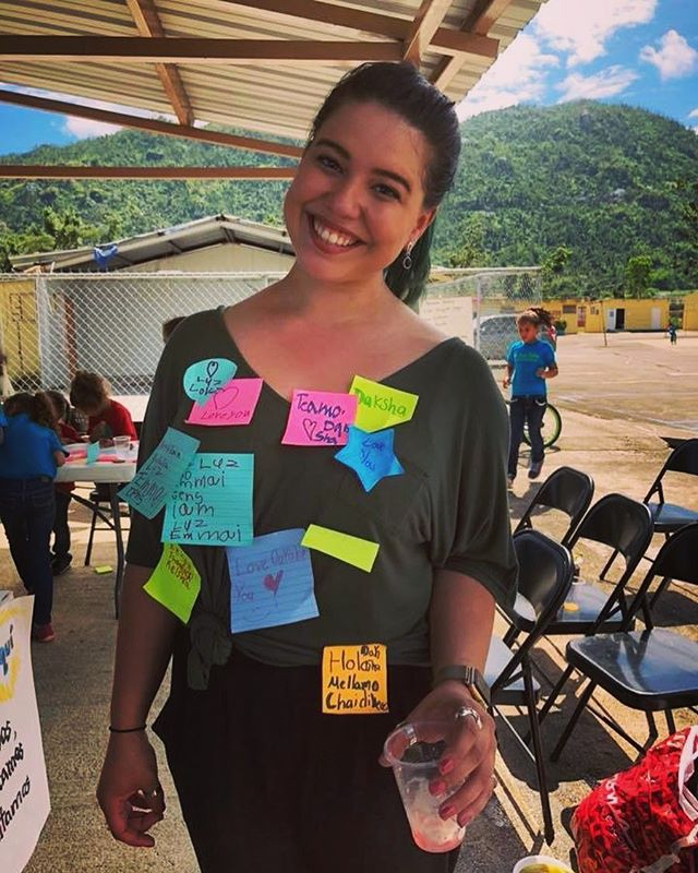 The best part of working with students? They shower you with sticky notes of love and friendship. #projectcoqui #yabucoa #puertorico