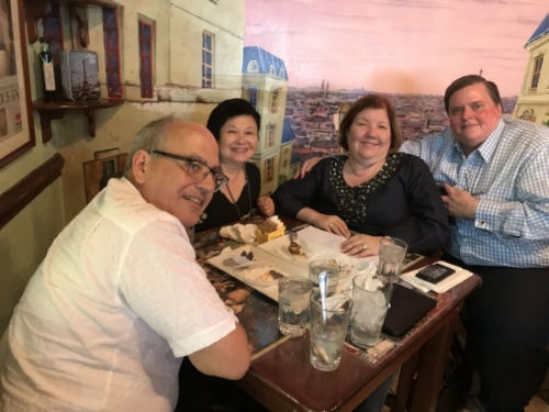 Meeting with the leaders of Echar Pa'lante.  (From left: Francisco Montalvo, Mei Lin Fung, Gloria Viscasillas Aponte, Manuel R. DeJuan)