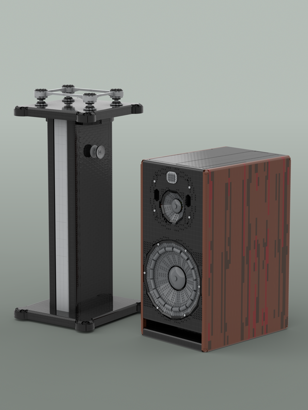 My finished designs for the Zaor Isostand MkII and the Focal Trio11 Speaker.