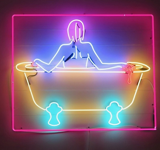 Photo: Marcia Gagliardi. © mymilligram. From She Bends neon show at The Midway Gallery. Artist: Kate Hush.