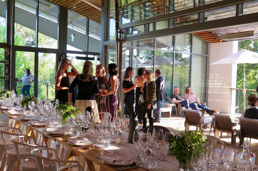 The reception at the Terpenes and Terroir dinner at Healdsburg Shed. Photo: Marcia Gagliardi. © mymilligram.
