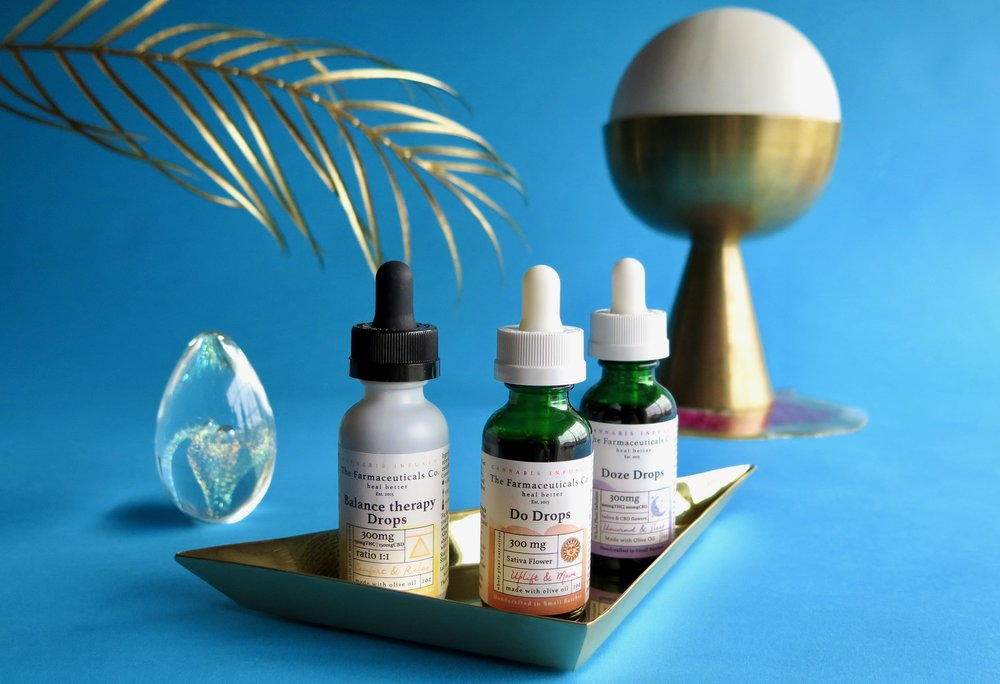 The Farmaceuticals Co. tinctures. Photo: Marcia Gagliardi. © mymilligram. Styling: Christian Jusinski/ Surfacehaus . Props:  Jay Jeffers/The Store .