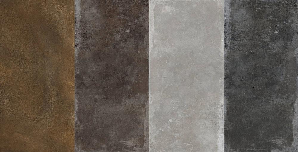 FMG Porcelain Tiles MaxFine Iron Collection Colors Corten, Iron Bronze, Iron Grey, Iron Black.jpg