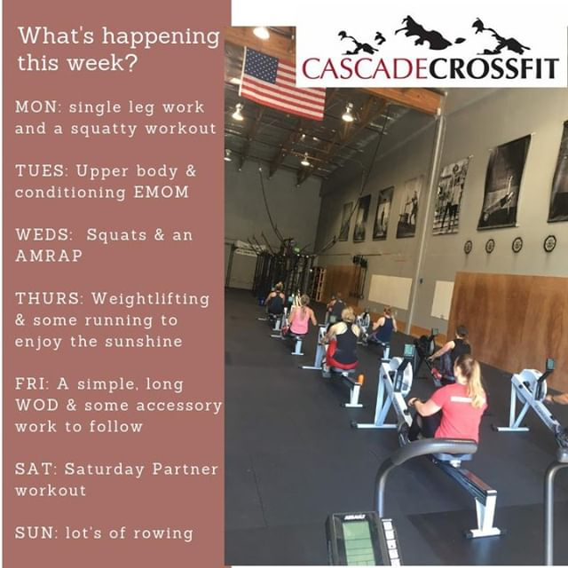 What's the plan this week?⠀ ⠀ Come try us out for free!⠀ www.cascadecrossfit.com or link in bio to sign up in advance for your free trial.⠀ ⠀ #northbend #issaquah #snoqualmie #issaquahhighlands #sammamish #fallcity #preston #Crossfit #cascadecrossfit