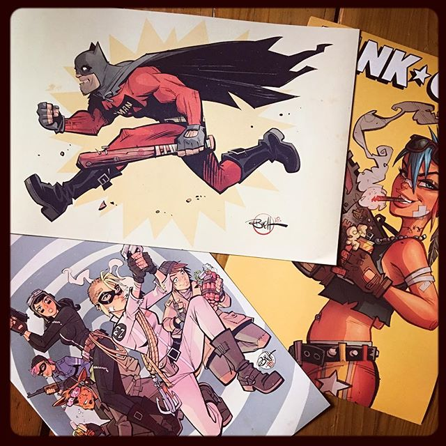 💥Just put some of these 12x18 Bat-Man and TG prints up in the webshop (Link in profile) get em' while you can 🍻🤪 $20 #batman#bootlegbatman#tankgirl#wonderfulworldoftankgirl#worldwartankgirl#beerstoyouoldamigo