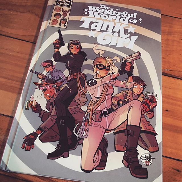 💥🤘🍻Out today! Wonderful World of Tank Girl the collection! Really psyched how this hardcover turned out! Full of explosions, senseless violence, spy gadgets, weirdo imposters, psychedelic tea, and badass girls! Do it up!! Available online and at all good shops! Only from @titancomics  #alanmartin#brettparson#tankgirl#wonderfulworldoftankgirl#titancomics#jetgirl#booga#barney#subgirl#tankgirltakesatrip