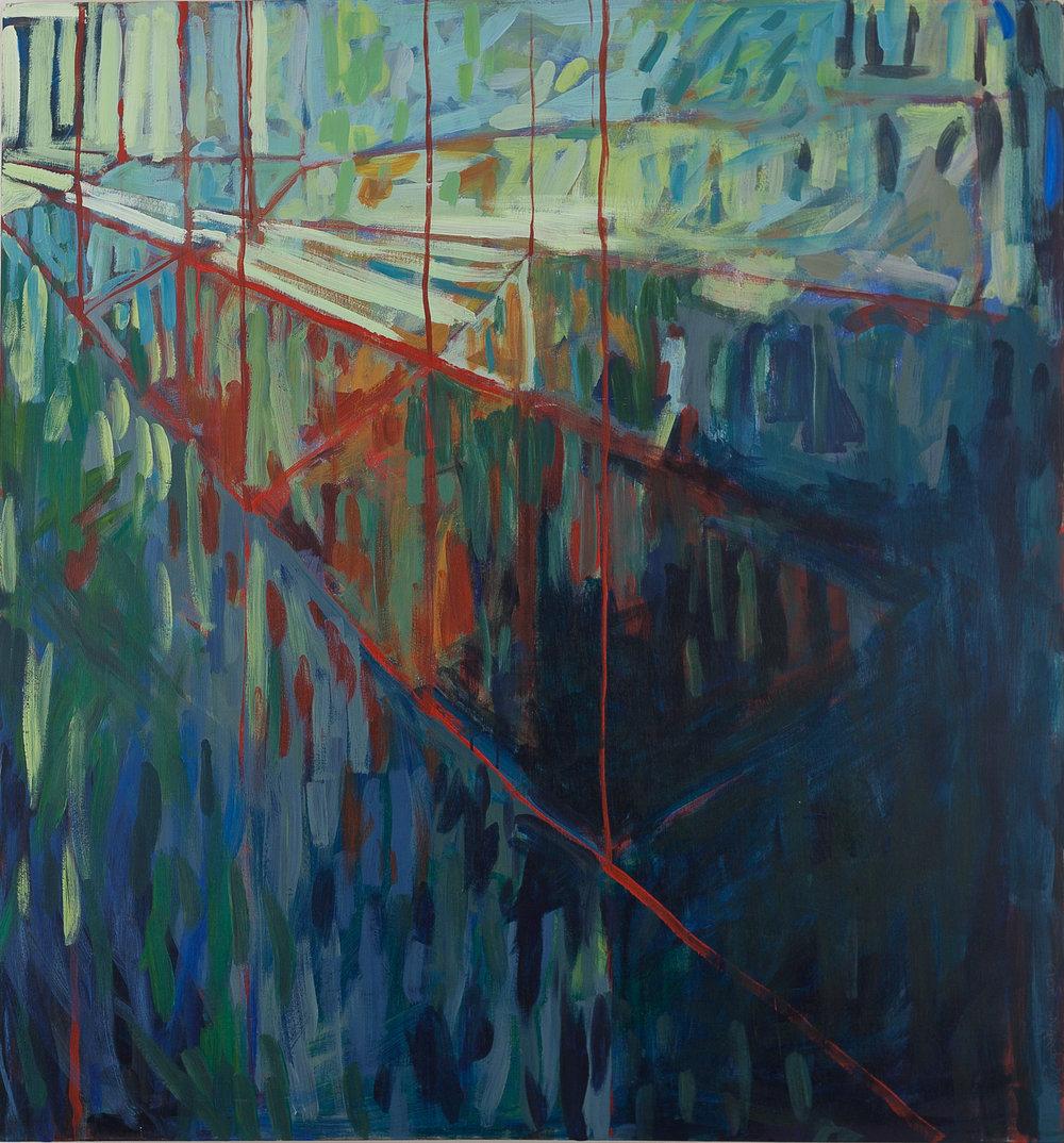 "untitled no. 5  acrylic painting on wood panel  45""x48""  5,000.00"