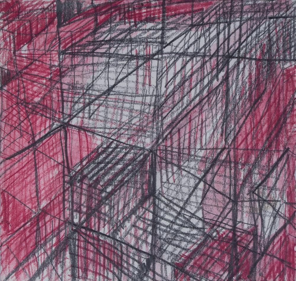 "bare bones  water color pencil and graphite on paper  6.5""x 6.25""  200.00"
