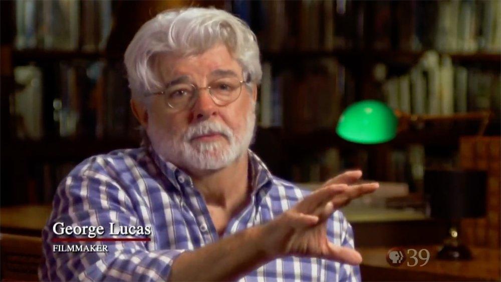 George Lucas Ken Burns interview camera crew