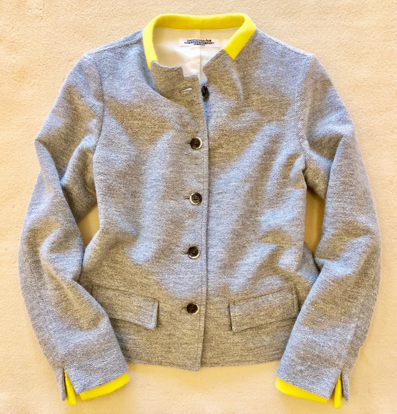 Soft Wool Comfortable JAC w/Candy Yellow Cashmere