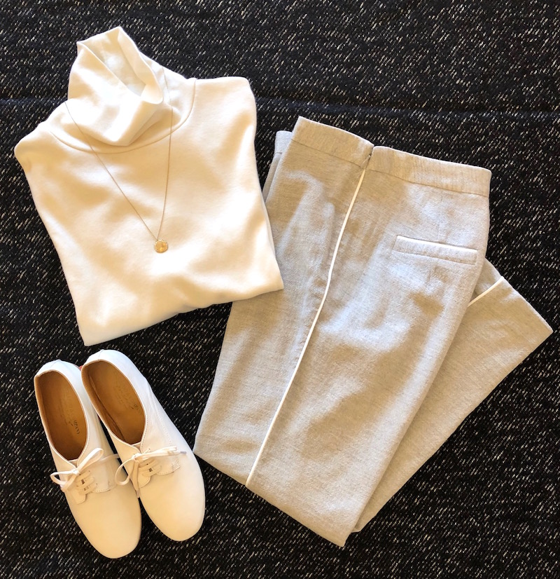 Cotton Cashmere Tops + Cropped Pants