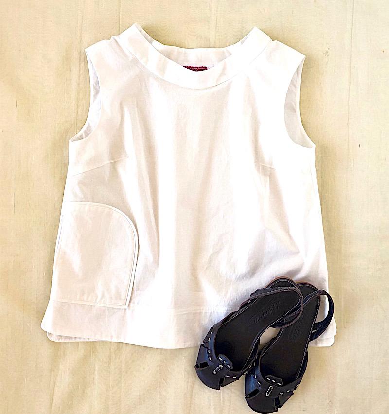 Pocket Pullover Shirt w/ Blacky Sandal