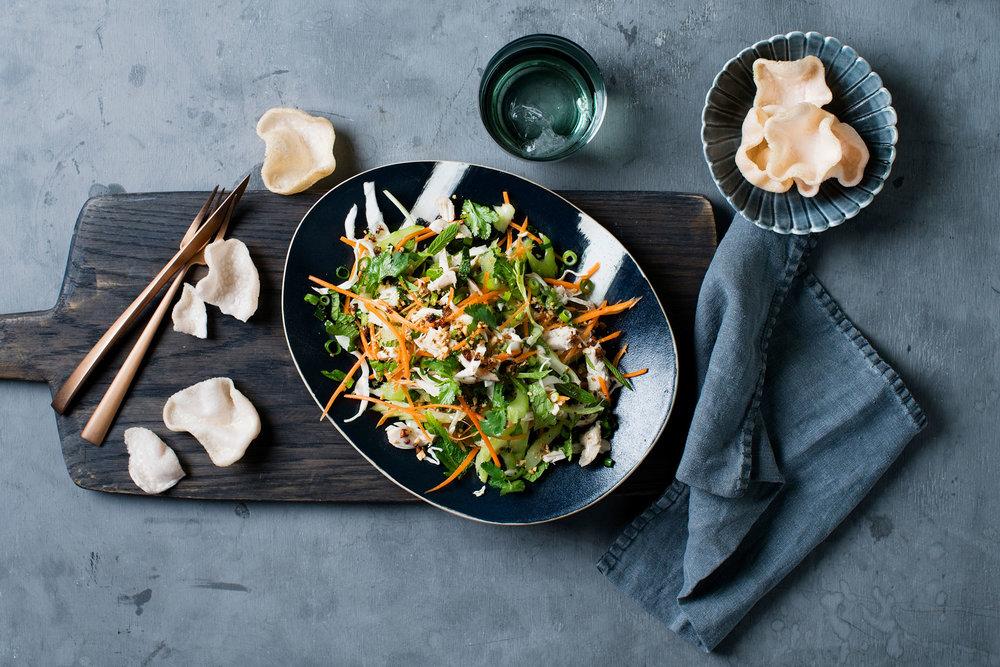 Vietnamese chicken salad $8.50 (  Entr é e)