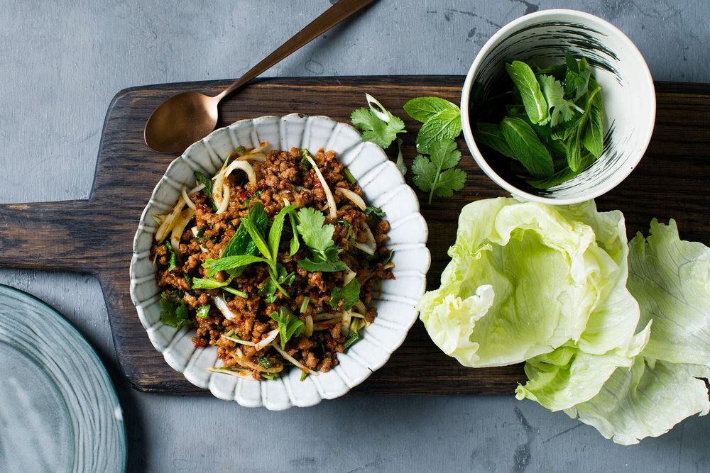 Larb  $16.50 (Signature Thai dishes, Gluten-free)