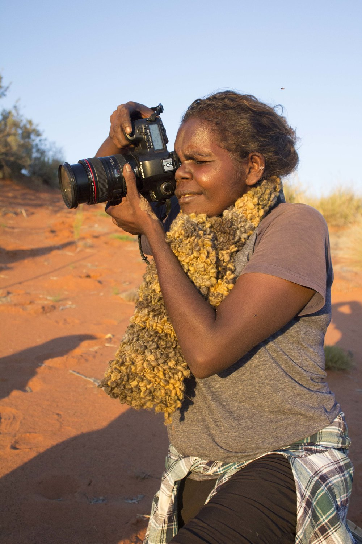 Wendy Nanji in the field