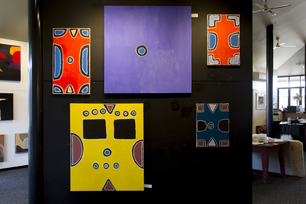 Copy of Rammy Ramsay's work, hung by Warmun Art Centre Arts Workers