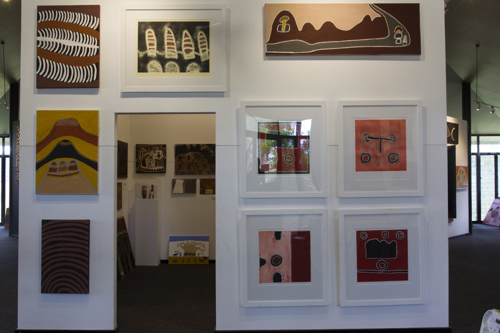 Copy of Salon hang of paintings and works on paper