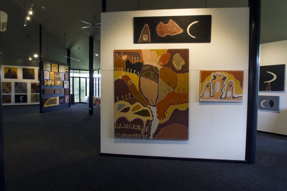 Copy of Patrick Mung Mung, Betty Carrington and Mabel Juli's works rehung in the Gallery