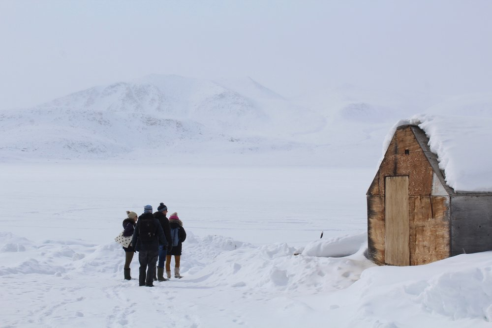 Out on the sea ice, Qikiqtarjuaq. May 2018
