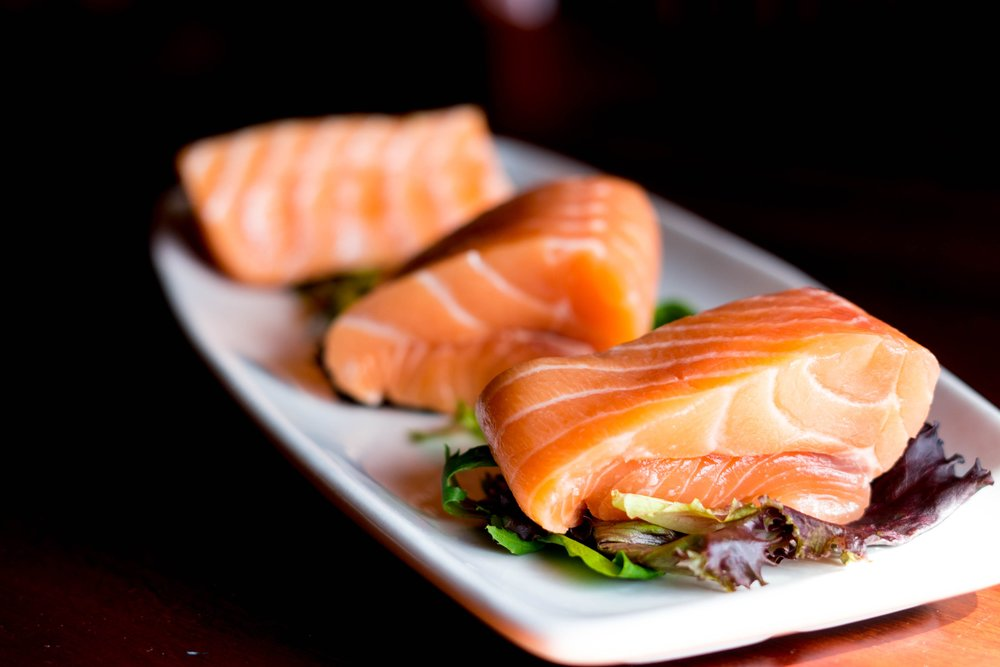 Wild salmon is a good source of omega 3 fatty acids.