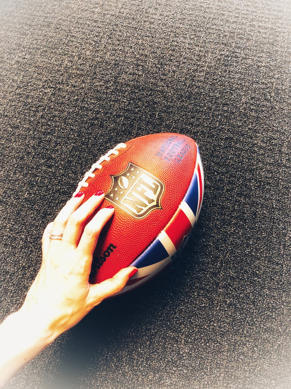 Probably the only time I'll ever touch an NFL football