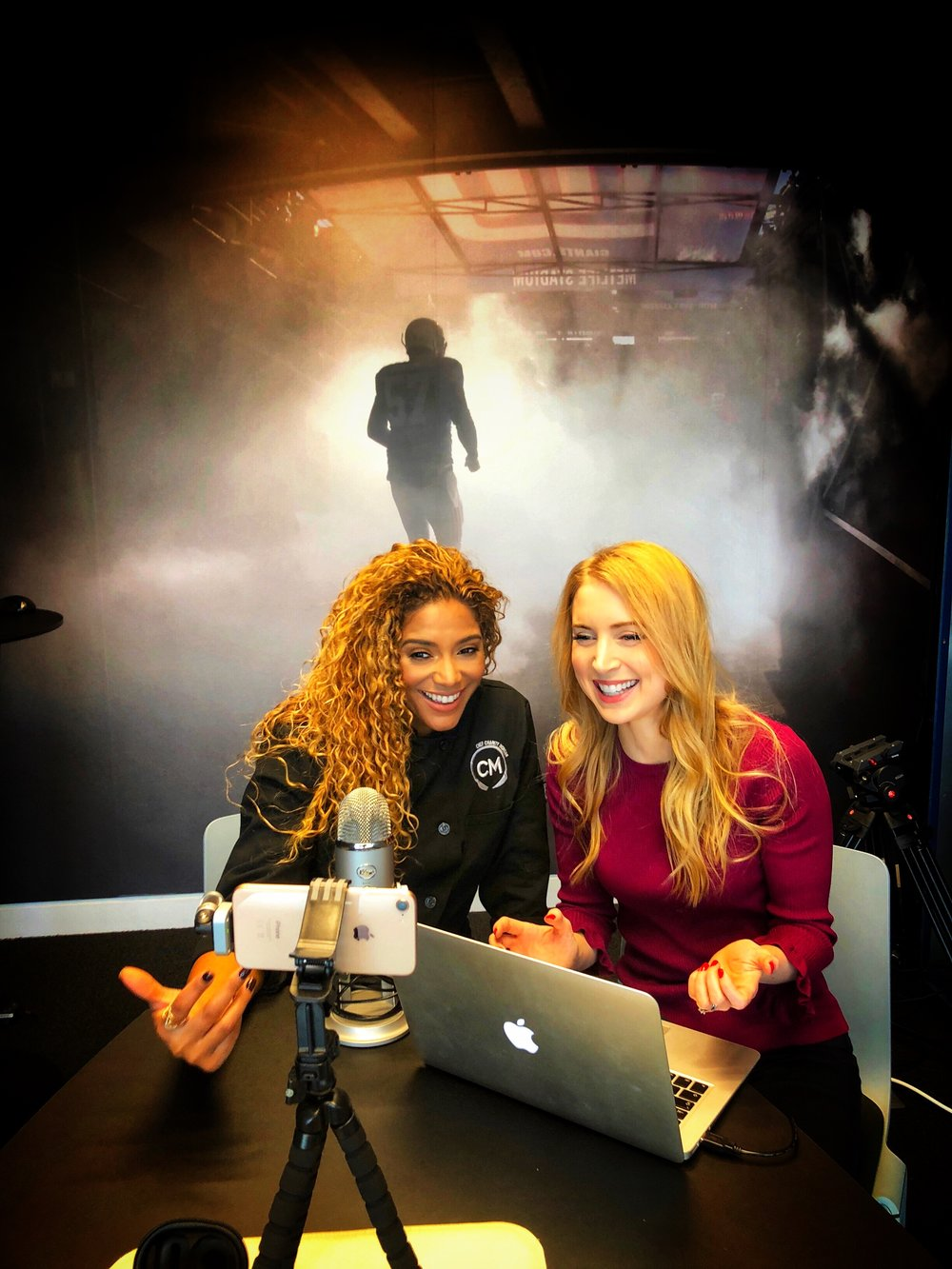 At NFL HQ in London with Charity Morgan