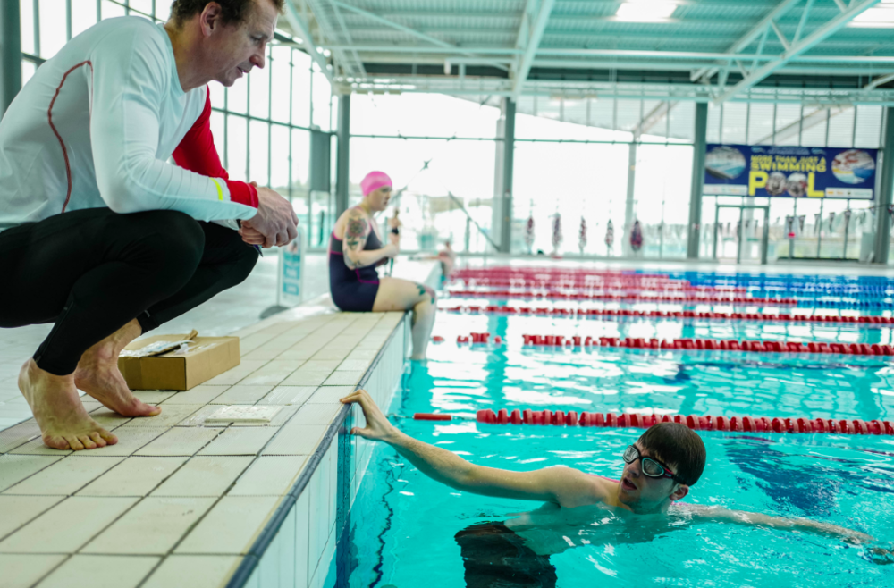 Training BBC Radio 1's Greg James to complete five triathlons in five days. Picture credit: gregwhyte.com