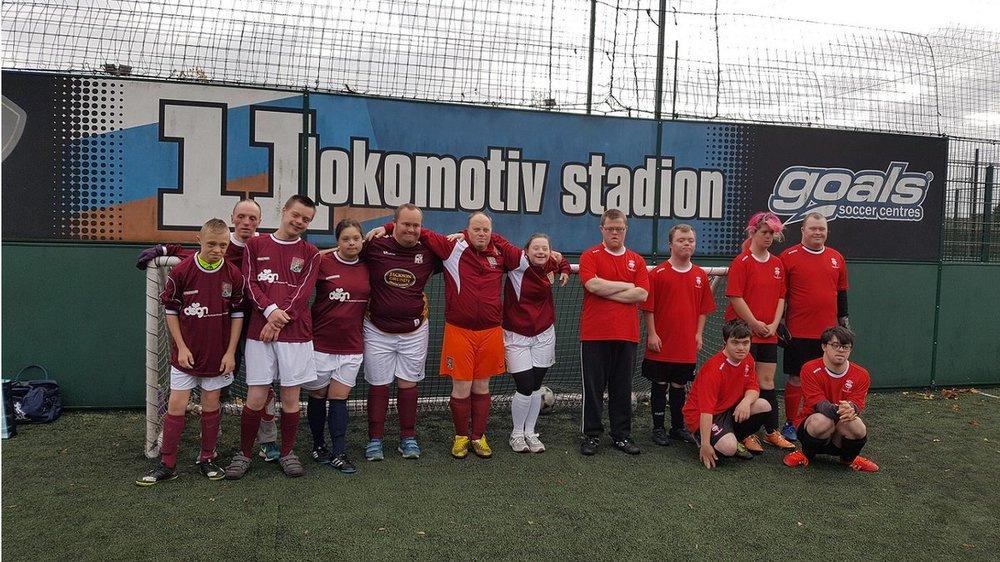 down's syndrome football -