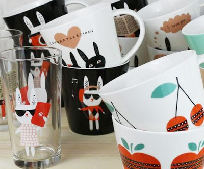 Collection of Mugs and Glasses with Make International