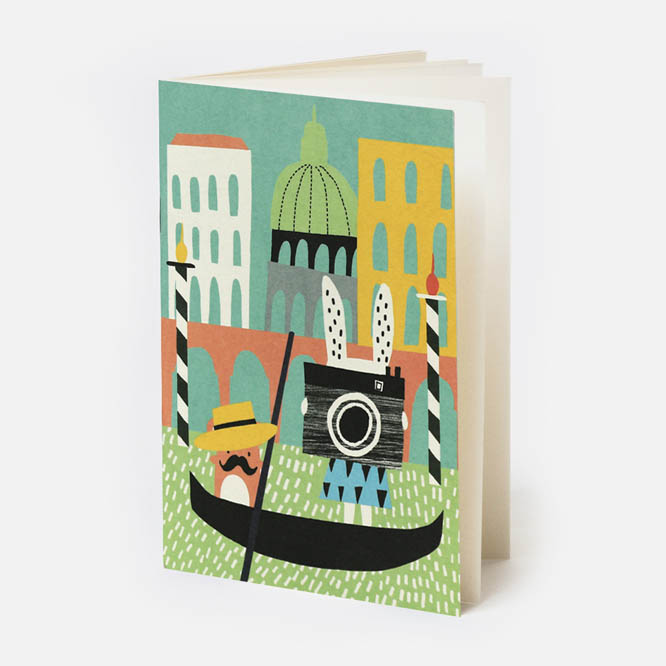 Venice Pocket Notebook with Noodoll