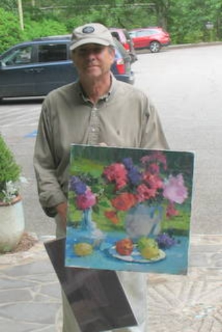 """John Guernsey painted this demonstration and helped answer questions for everyone attending """"Paint On the Porch"""" on June 21st."""
