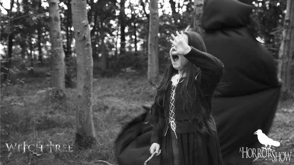 Scarlet Sargent on the Set of The Witch Tree.
