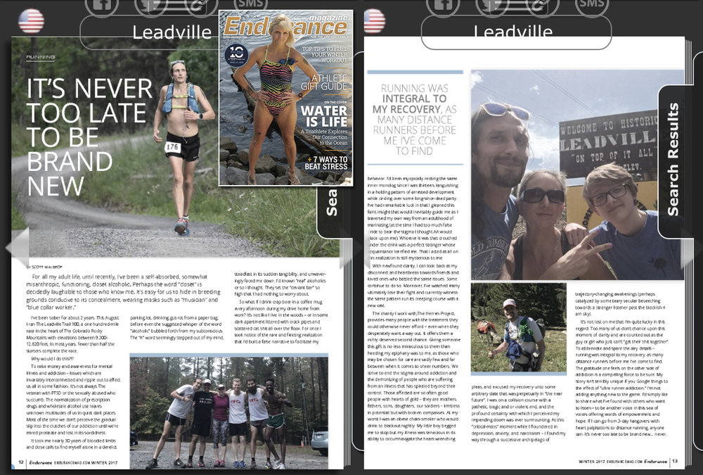 Read My Story in   Endurance Magazine