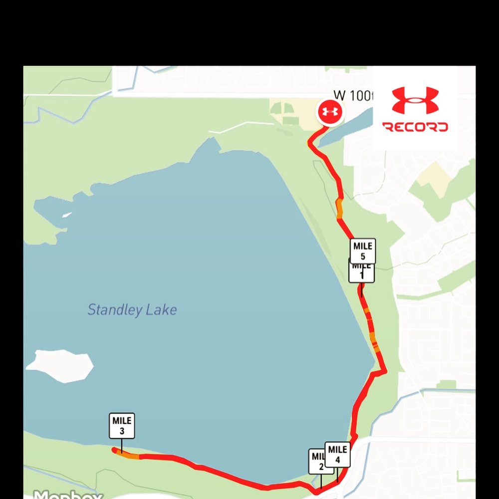 Westminster Trail 10k Out and back Trail map