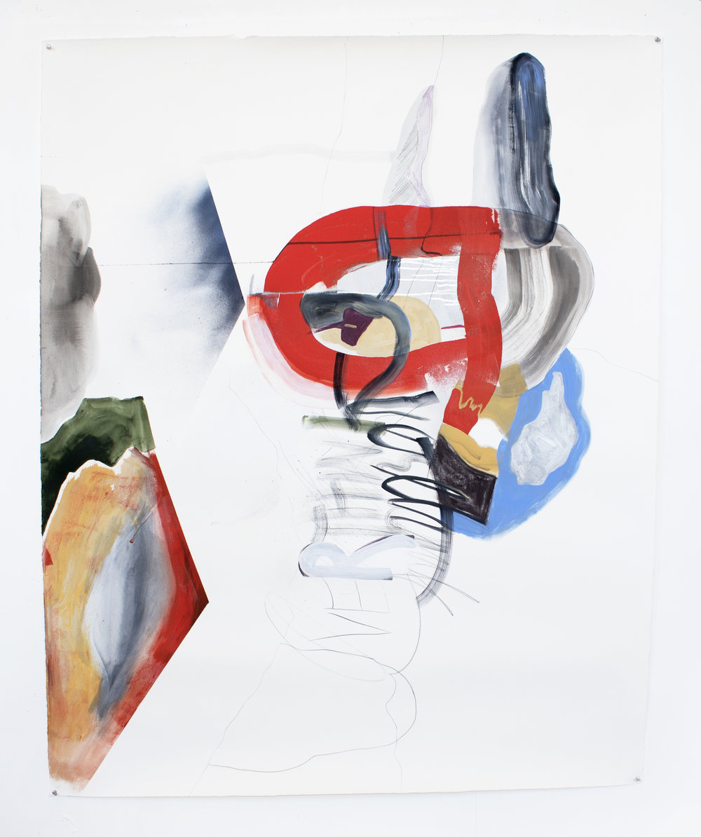 combover , 2017, 51 x 63.5 inches