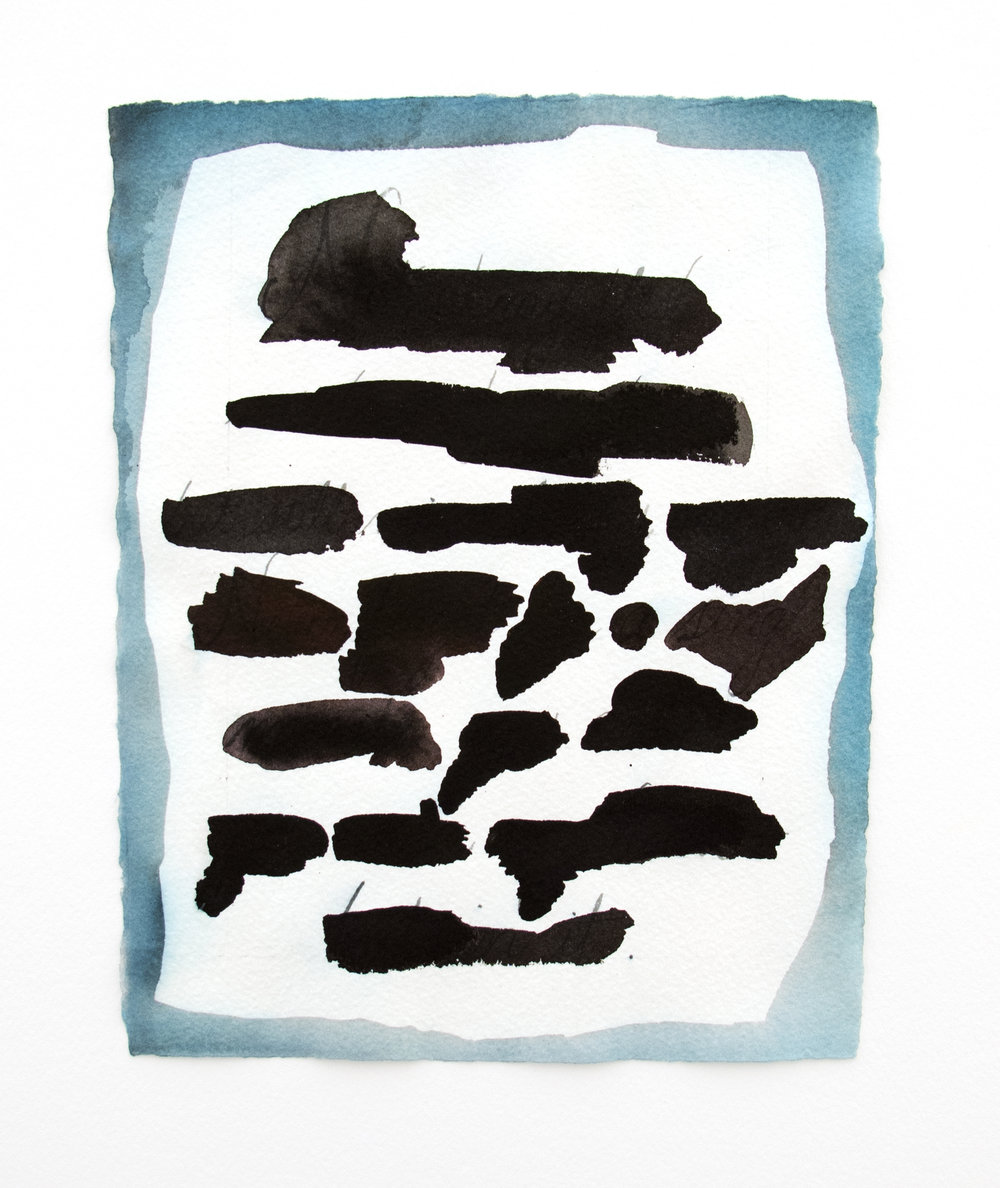 original redaction , 2013, ink on paper, 7 X 9 inches