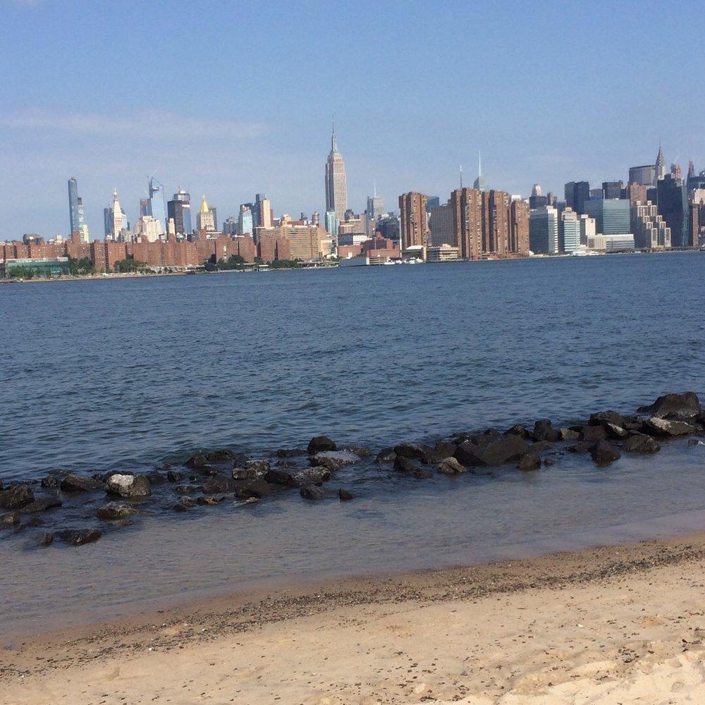 Williamsburg's East River Park Beach view