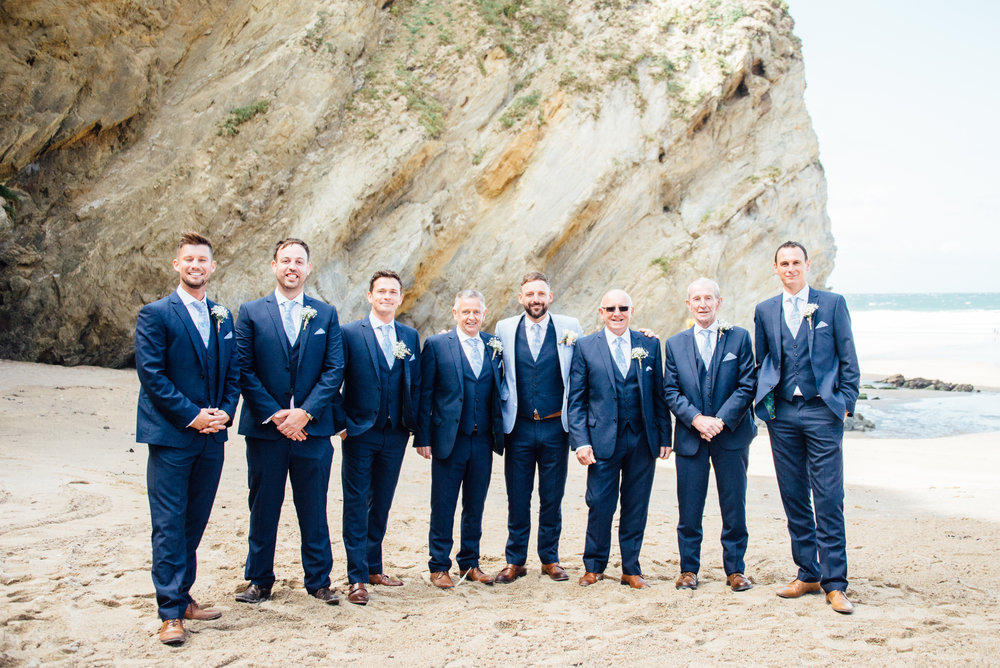 Lusty Glaze beach wedding
