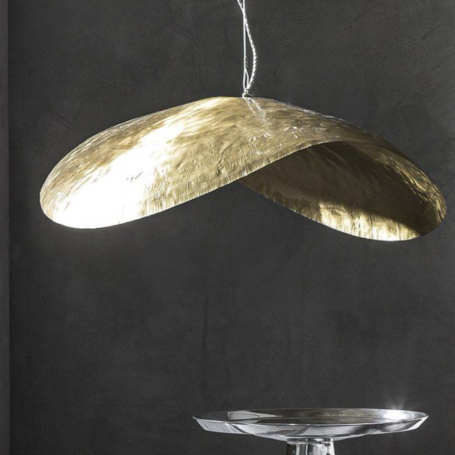 gervasoni brass 96 - Suspension lamp in matt brass, max. power 18 W, 220 Volt, bulb holder E 27, bulb not included.