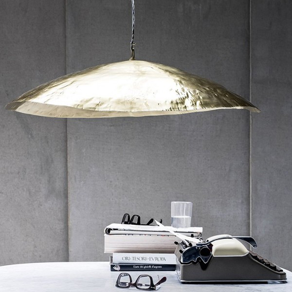 gervasoni brass 95 - Suspension lamp in matt brass, max. power 18 W, 220 Volt, bulb holder E 27, bulb not included.