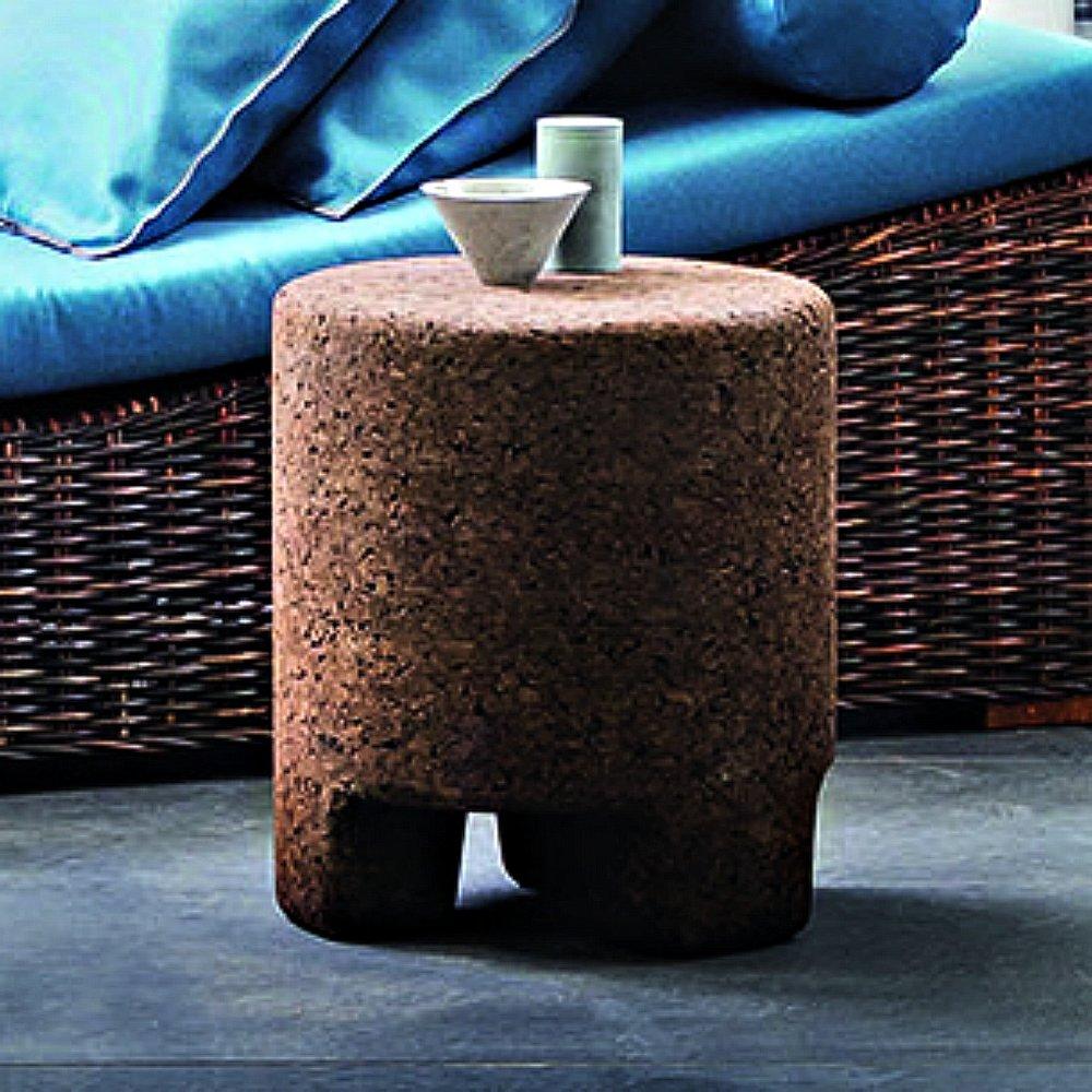 gervasoni CORK 45 - Side table/ottoman in cork.